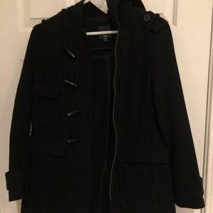 Black Toggle Coat